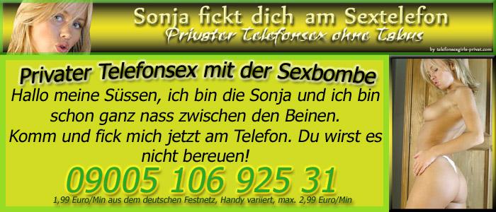 18 Privater Telefonsex mit der Sexbombe Sonja